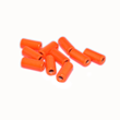 Mässingstuber - 7mm - 10st - Fluo Orange